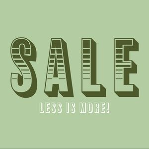 More is less sale!! Buy an item, get an item